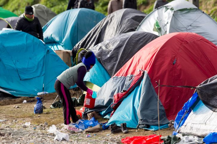 Displaced refugees