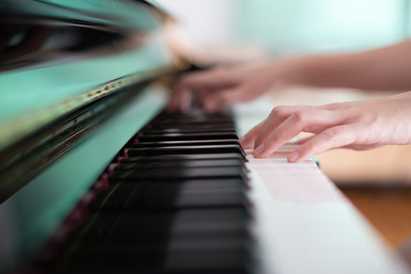 Lady playing piano