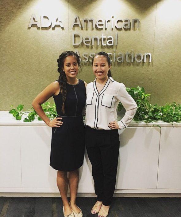 ADPAC externs Elieza Tang, Midwestern-Arizona '19, and Nancy Mo, Columbia '19